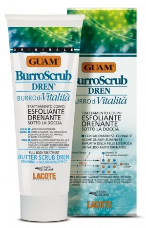 FANGHI D'ALGA GUAM Burro Scrub doccia DREN 200ml anti cellulite esfoliante