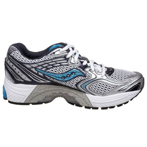 f12d8e98 Saucony Progrid Guide 3 White Navy Blue Womens Running Shoes 100531 ...