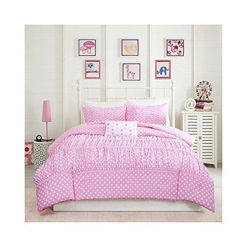 Mizone Lia 4 Piece Comforter Set, Pink