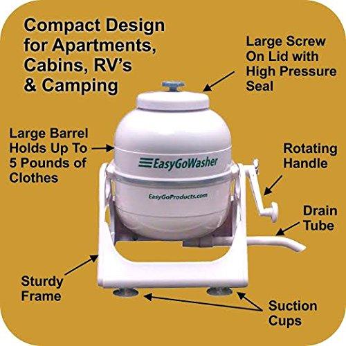EasyGo WasherTM Rapid Mobile Wonderwash Clothes Washing Machine Pod    Wonderful For Mini Loads, ...