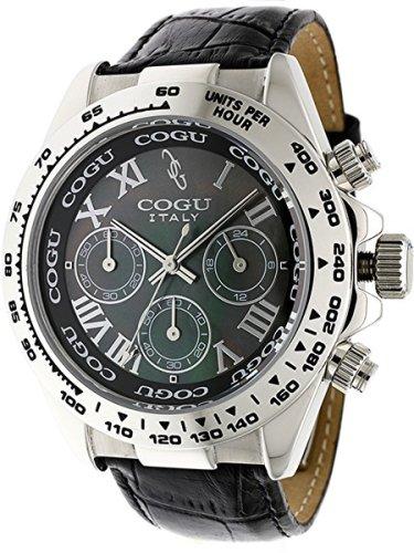 COGU コグ メンズ腕時計 HALD ブラックシルバー BKB