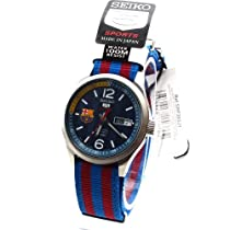 Seiko Sports Military Blue and Red Watch SRP303J1
