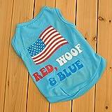 Summer Apparel Puppy Dog dog pet clothes summer the usa flag vest sleeveless dog t-shirts apparel