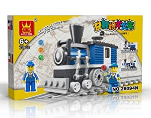 TRAIN Toy - BUILDING BLOCKS 73 pcs set Compatible with Lego parts, Great Christmas Gift