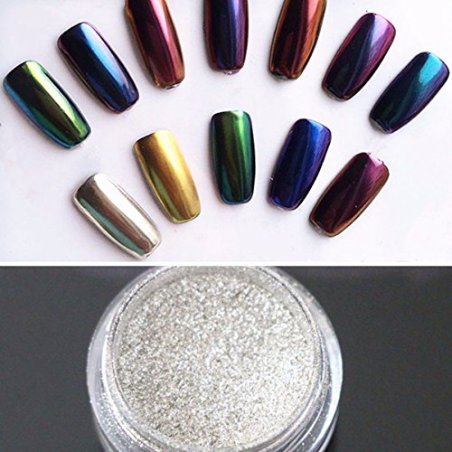 Nail Mirror DANCINGNAIL Polvere Metallica Effetto Specchio Magico Chrome Nail Art Additivo Pigmento / Chrome Pure polvere / Nail Art Chrome