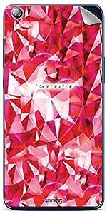 GsmKart LS850 Mobile Skin for Lenovo S850 (Pink, S850-338)