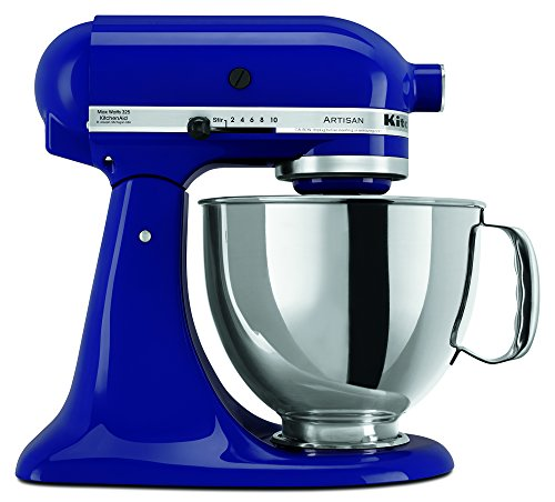 Kitchenaid Ksm150Psbu 5 Qt. Artisan Series With Pouring Shield - Cobalt Blue front-130238