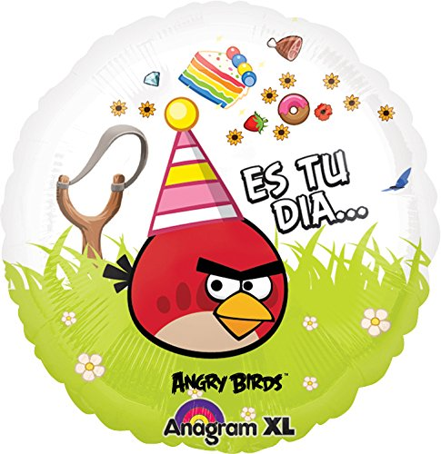 Anagram International Angry Birds Feliz Cump Foil Balloon, Multicolor