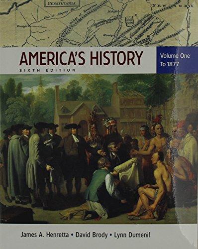 America's History 6e V1 & Documents to Accompany America's History 6e V1