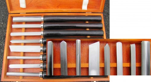 Coltello tornitura hobby set 8 pz legno utensili per for Tornio legno hobby