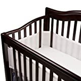 BreathableBaby Breathable Safer Bumper, Fits All Cribs, White