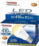 TOSHIBA E-CORE LED電球 ミニクリプトン形5.4W 「明るさ重視タイプ」 電球色相当 LDA5L-E17