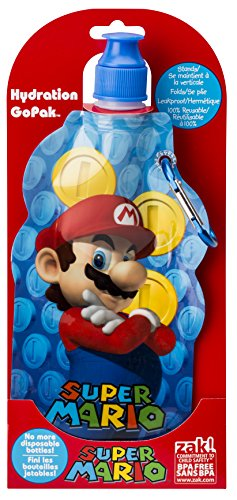 Zak Designs Super Mario Brothers Collapsible Water Bottle by Zak Designs, 15-Ounce (Super Mario Anime compare prices)