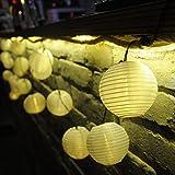 Beleuchtung - Dailyart� 15.7ft/4.8M Solar Garten Laterne 20er LED --Sommerlichterkette Lichterkette Warmwei� Innen- und Au�enbereich