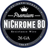 100ft 26 Gauge Nichrome Series 80 Resistance Wire 26GA (0.40mm) 2.657 Ohms/ft - SATISFACTION GUARANTEED OR YOUR MONEY-BACK - Perfect for all of your RDA Mods - BUY WITH CONFIDENCE