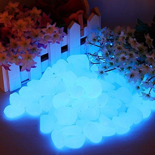 [Aquarium Fish Tank 100Pcs Glow In The Dark Stones Pebbles Rock For Aquarium Fish Tank Garden D?cor] (Football Yard Marker Costume)