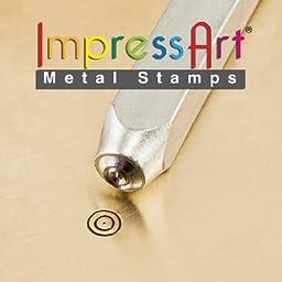 ImpressArt- 3mm, Bullseye Design Stamp