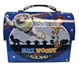Disney Buzz Woody and the Gang Blue DomeToy Story Lunch Box- Toy Story Tinbox - Toy Story Box