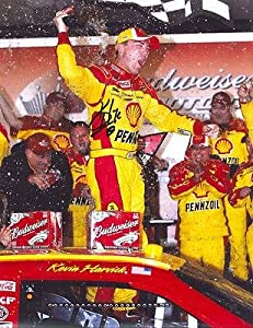 Kevin Harvick Signed Photograph - VICTORY LANE 11X14 COA - Autographed NASCAR Photos by Sports Memorabilia