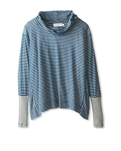 Velvet by Graham & Spencer Women's Cowl Neck Striped Top