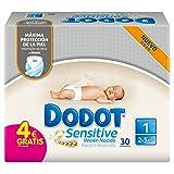 Dodot Sensitive - Pañales para recién nacidos - talla 1, 2-5 kg - 30 unidades