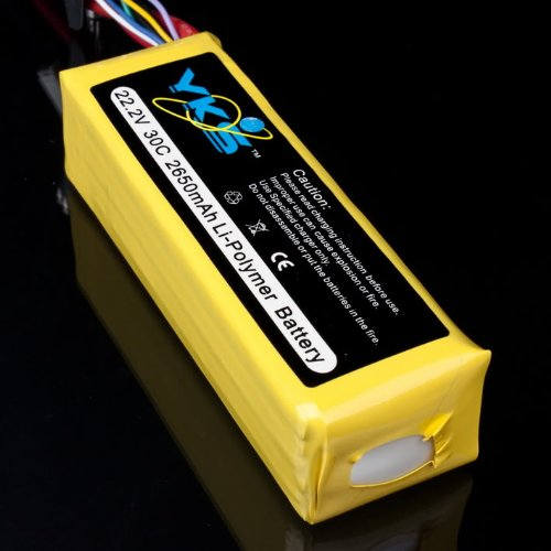 22.2v 2650mah 30c 6s Rc Lipo Battery Trex500 Helicopter