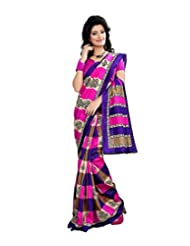 Anu Designer Self Print Saree (6401B_Multi-Coloured)