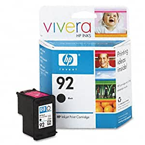 HP : C9362WN (HP 92) Vivera Ink, 220 Page-Yield, Black -:- Sold as 2 Packs of - 1 - / - Total of 2 Each