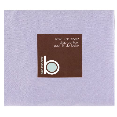 Blue Banana Jersey Knit Fitted Crib Sheet, Lilac