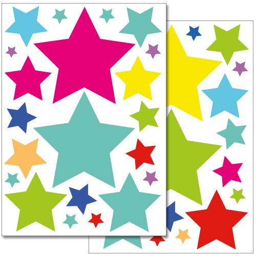 adesivi-da-parete-wandkings-stelle-colorate-set-adesivi-42-adesivi-su-2-fogli-din-a4