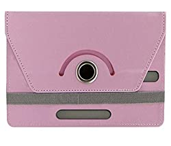 Baby Pink Stylabs Tablet Book Flip Case Cover For Celkon Ct2 Talk (Universal)