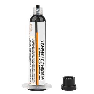 Solder Mask Ink, 1Pc UV Light Curing Solder Mask Ink BGA PCB Solder Resist Ink Black