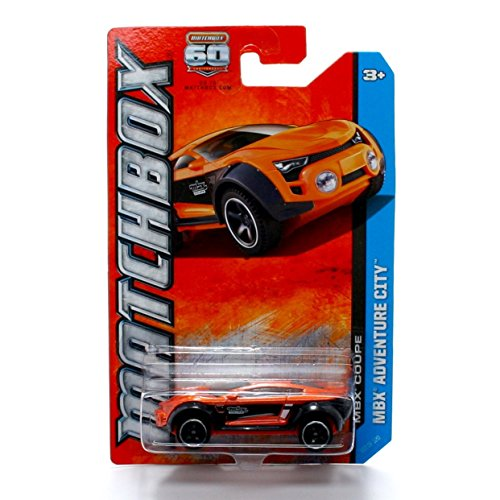 MBX COUPE (Orange) * MBX ADVENTURE CITY * 60th Anniversary Matchbox 2013 Basic Die-Cast Vehicle (#107 of 120) - 1