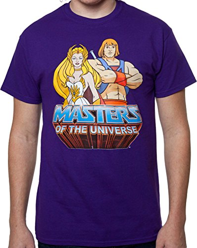 Men's Licensed She-Ra and He-Man T-Shirt - M to XXXXXL
