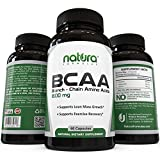 #1 Top Rated BCAA Capsules - The Best Branched Chain Amino Acids on Amazon - 100% Money Back Guarantee - Lean Muscle Building, Quick Muscle Recovery, Boost Metabolism and Weight Loss - Dietary Supplement from Natura Formulas - Get Results or Your Money Back!
