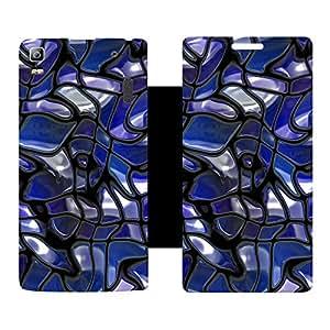 Skintice Designer Flip Cover with hi-res printed Vinyl sticker wrap-around for Lenovo K3 Note