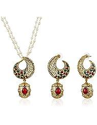 Sia Art Jewellery Pearl Jewellery Set For Women (Golden) (AZ2041)