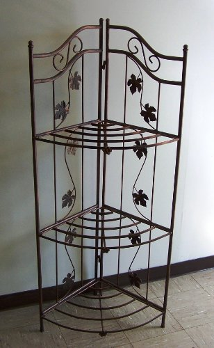 Oakland Living Sunrise Bakers Rack, Antique Bronze