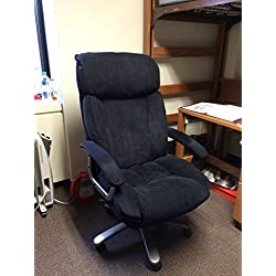 Realspace BTEC 820 Big & Tall Executive Fabric High-Back Chair - Black/Silver