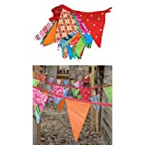 Large Colourful Original Cotton Bunting - 11.5m long - Life's A Party - Original (Red)by Phillipson-Zoet (Engel)