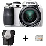 Fujifilm FinePix S4200 White + Case and 32GB Memory Card (14MP, 24x Optical Zoom) 3 inch LCD Screen