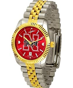 NCAA Nebraska Cornhuskers Mens Executive AnoChrome Watch by SunTime