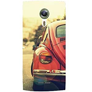 Casotec Vintage Car Pattern Design Hard Back Case Cover for Alcatel Onetouch Flash 2