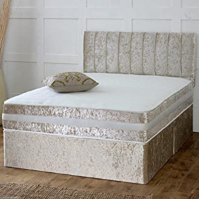 Hf4you Ortho Sprung Memory Crushed Velvet Divan Bed -