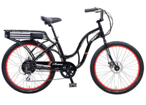 IZIP E3 Zuma - Low Step Beach Cruiser Electric Bicycle - Black