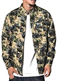 (ニューエラ)New Era ボタンダウンシャツ メンズ 長袖 迷彩柄 カジュアルシャツ カクタスカモ 11321731 カーキ XL 大きいサイズ