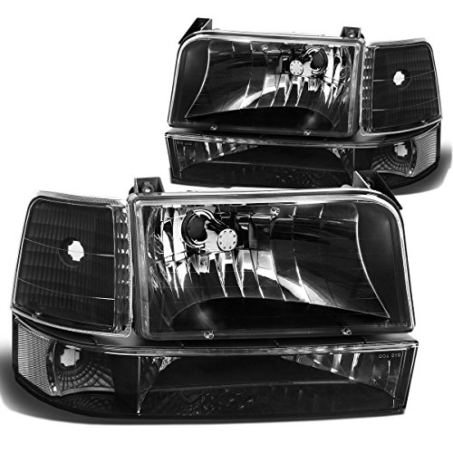 Ford F-150 Bronco Replacement Headlight Lamp Assembly (Black Housing) - 5 Gen (Headlight Assembly Bronco compare prices)