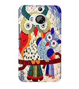 Omnam Owl Made With Tiles Beautiful Effect Designer Back Cover Case For HTC One M9 Plus