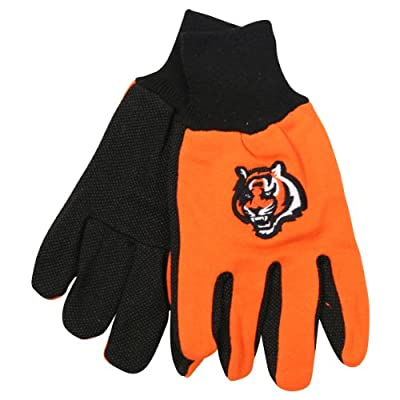NFL Team Logo Grip Gloves - Cincinnati Bengals