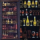 手拭いタペストリー『Counter back』(タペ棒セット)【バー、酒、ワイン、ウィスキー/手ぬぐい/掛軸】